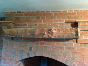 Wood mantel piece Cheshire
