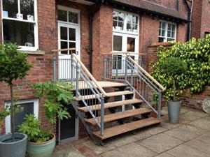 External wooden stairs Alderley Edge