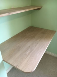 22mm thick oak shelves