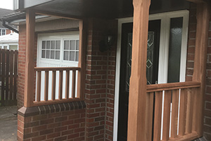 Wood porch supports Crewe